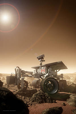 Poster featuring the digital art Mers Rover by Bryan Versteeg