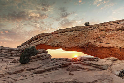 Mesa Arch At Sunrise Poster