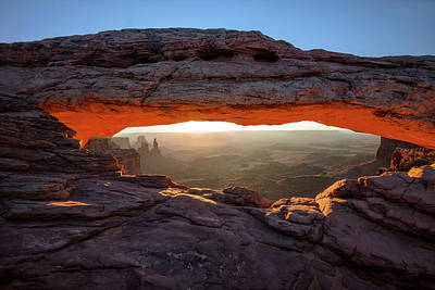 Mesa Arch At Sunrise Poster by Mark Kiver