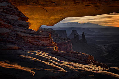 Poster featuring the photograph Mesa Arch Glow by Jaki Miller