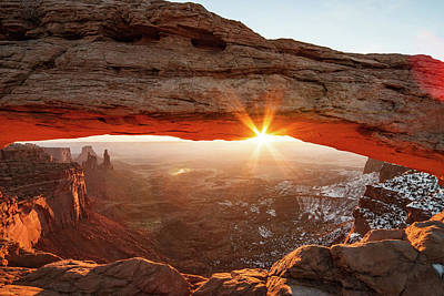 Poster featuring the photograph Mesa Arch by Wesley Aston