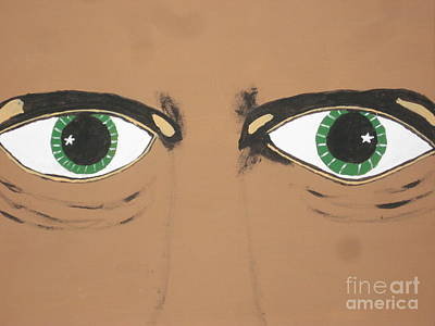 Poster featuring the painting Mesmerized Eyes by Jeffrey Koss