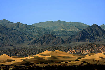 Mesquite Flat Sand Dunes - Death Valley National Park Ca Usa Poster