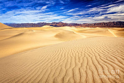 Mesquite Flat Sand Dunes In Death Valley Poster