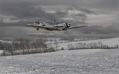 Messerschmitt Bf 109 G - Gustav Poster by Pat Speirs