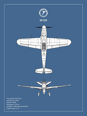 Messerschmitt Bf 109 Poster by Mark Rogan