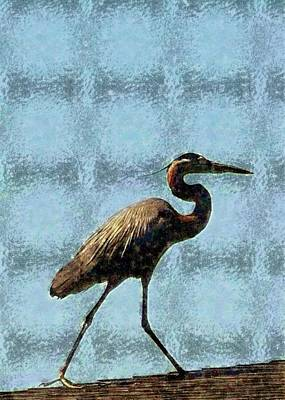 Poster featuring the photograph Metal Heron by Ellen O'Reilly