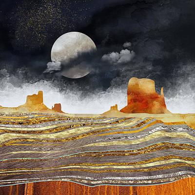 Metallic Desert Poster