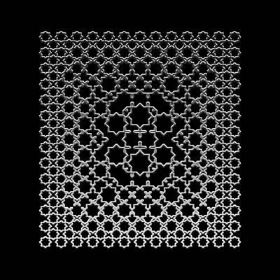 Metallic Lace Axxxv Poster by Robert Krawczyk