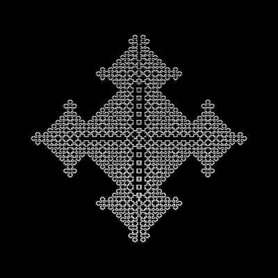 Metallic Lace Bix Poster by Robert Krawczyk