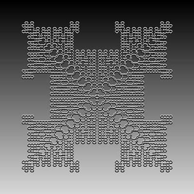 Metallic Lace Cxxx Poster by Robert Krawczyk