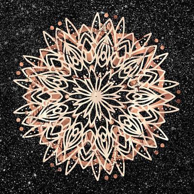 Poster featuring the digital art Metallic Mandala by Bee-Bee Deigner