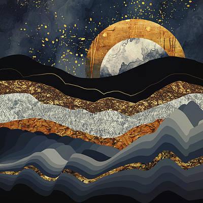 Metallic Mountains Poster