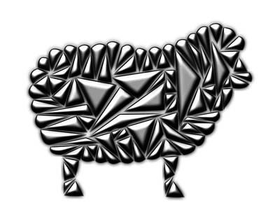 Metallic Sheep Poster