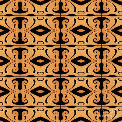 Metamorphosis Of The White Waves Symmetry Tile 3 By 4 Poster