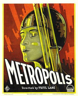 Metropolis, Brigitte Helm, 1927 Poster by Everett