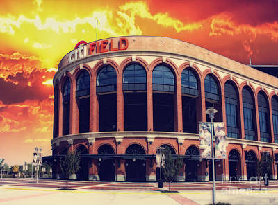 Mets Citi Field  Poster by Nishanth Gopinathan
