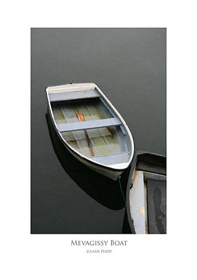 Poster featuring the digital art Mevagissy Boat by Julian Perry