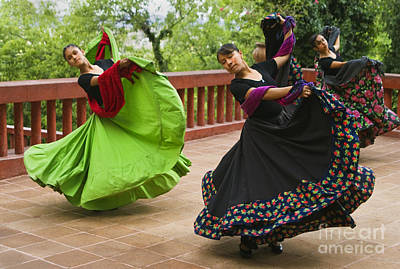 Mexican Dancers - San Miguel De Allende Poster by Craig Lovell