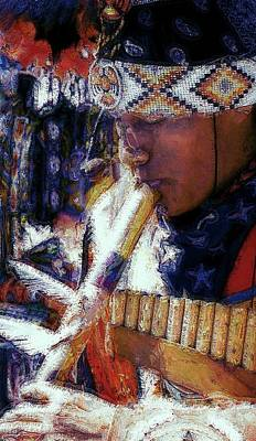 Poster featuring the photograph Mexican Street Musician by Lori Seaman