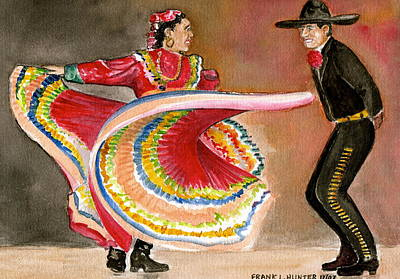 Mexico City Ballet Folklorico Poster by Frank Hunter