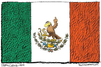 Mexico Flips Bird Poster