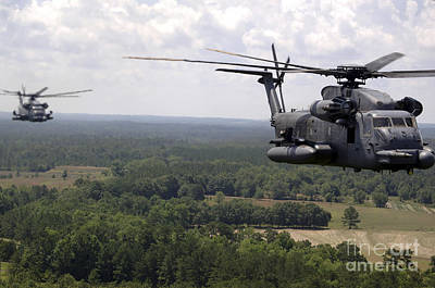 Mh-53 Pave Low Helicopters Poster by Stocktrek Images