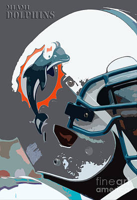 Miami Dolphins Football Team Poster