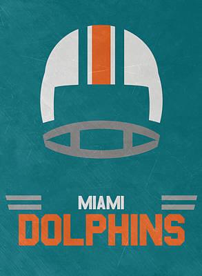 Miami Dolphins Vintage Art Poster by Joe Hamilton