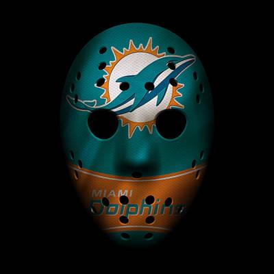 Miami Dolphins War Mask 3 Poster by Joe Hamilton