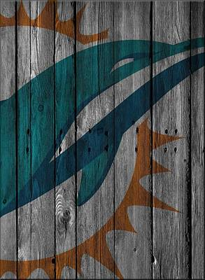 Miami Dolphins Wood Fence Poster by Joe Hamilton