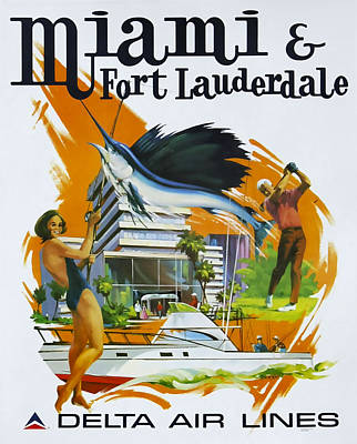 Miami - Ft Lauderdale Poster