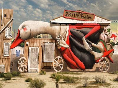 Poster featuring the digital art Miami Graffiti by Jeff Burgess