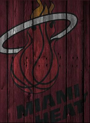 Miami Heat Wood Fence Poster by Joe Hamilton
