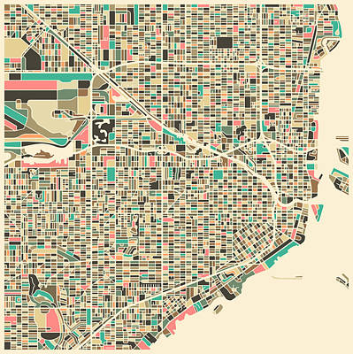 Miami Map Poster