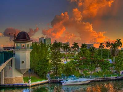 Miami River Bridge Poster