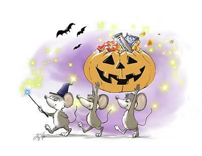 Mic, Mac, And Moe's Happy Halloween Poster