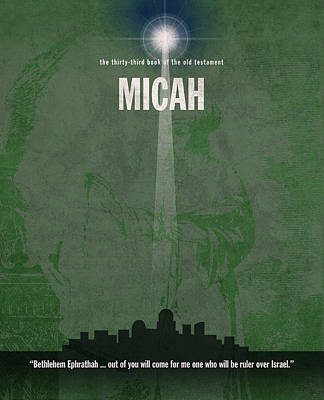 Micah Books Of The Bible Series Old Testament Minimal Poster Art Number 33 Poster by Design Turnpike