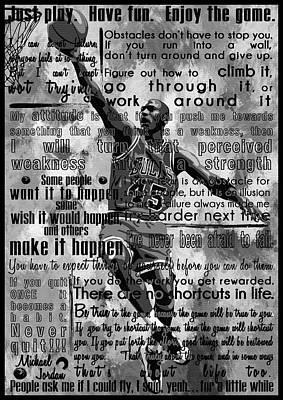 Michaeil Air Jordan Motivational Inspirational Independent Quotes 1 Poster