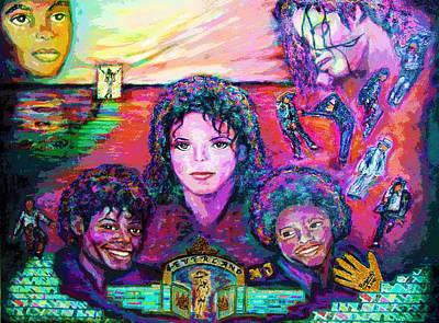 Michael Jackson 4-everland Poster by Regina Brandt