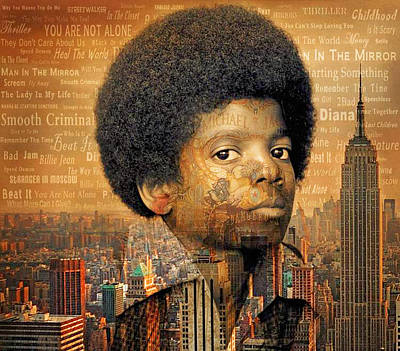 Michael Jackson Poster by Hugh Davis