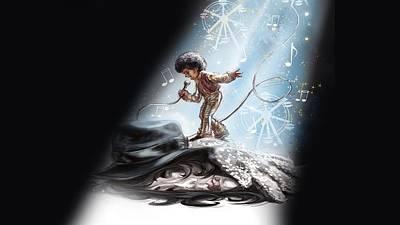 Michael Jackson Painting-133 Poster by Jovemini ART