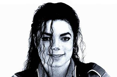 Michael Jackson Pencil Drawing  Poster by Movie Poster Prints