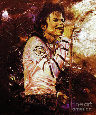 Michael Jackson Singer  Poster by Gull G