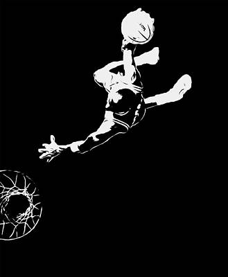 Michael Jordan Above The Rim 1 Poster by Brian Reaves