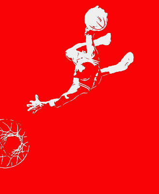 Michael Jordan Above The Rim 2 Poster by Brian Reaves
