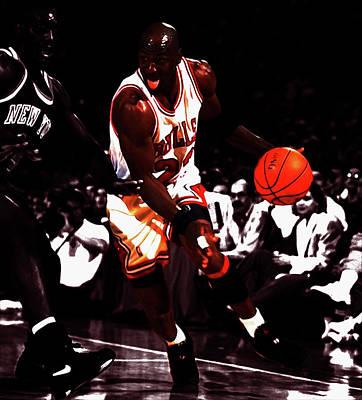 Michael Jordan And Anthony Mason Poster