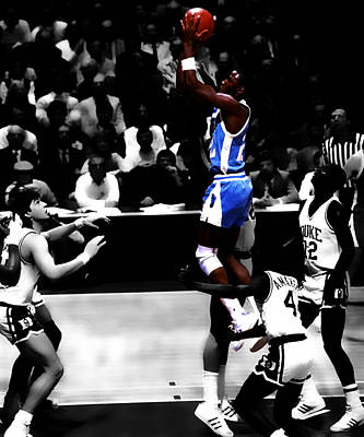 Unc Tarheel Michael Jordan  Poster