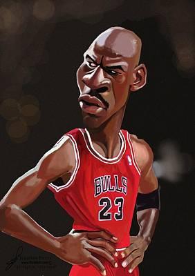 Michael Jordan Caricature Poster by Jonathan Pierce
