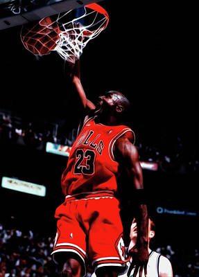 Michael Jordan Game Point Poster by Brian Reaves